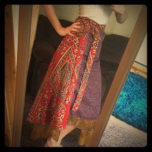 Colorful Wrap Skirt